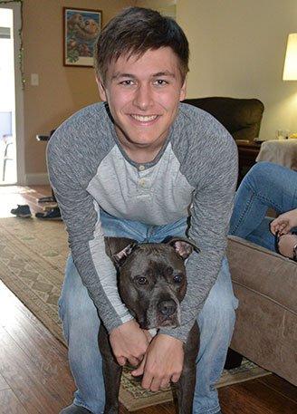 Luke Hadesty and dog